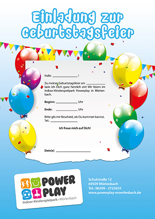 Powerplay Geburtstagseinladung